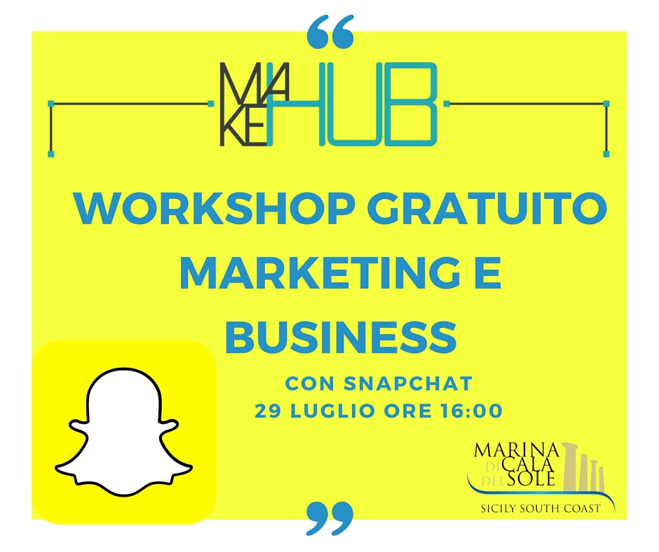 "Workshop ""Marketing e Business con Snapchat"""